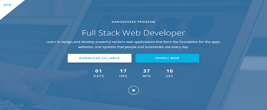 Full stack web developer course from Udacity