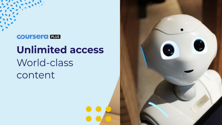 Learn robotics with Coursera Plus